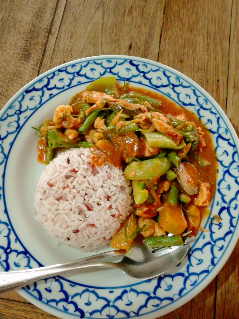 panang curry funky dog cafe