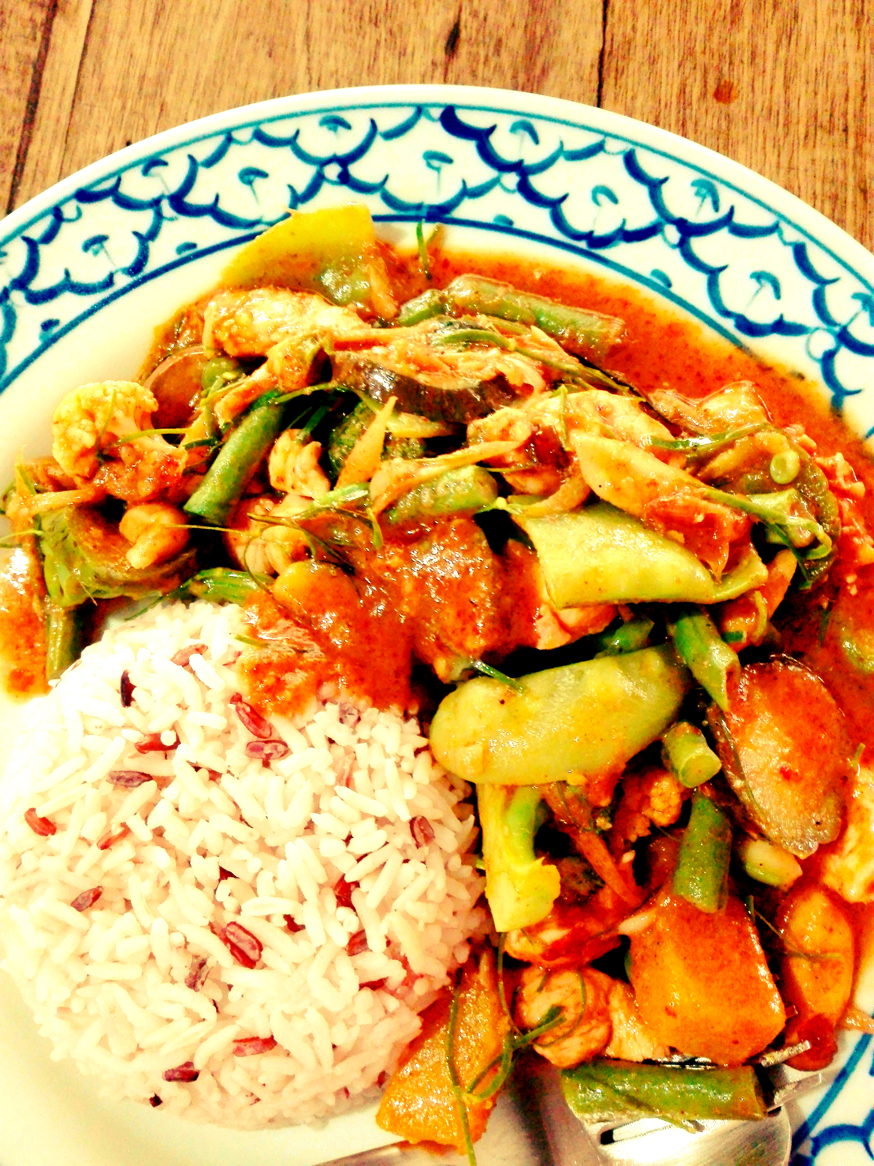Amazing Thai Panang Curry (พะแนงหมู) in Chiang Mai at Funky Dog Cafe